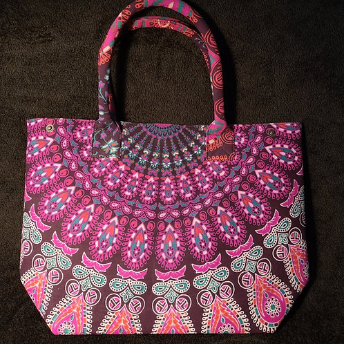 Purple Mandala Shopping Bag