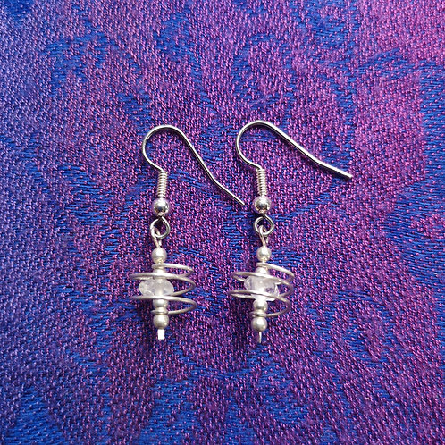 Aries Quartz Spiral Earrings