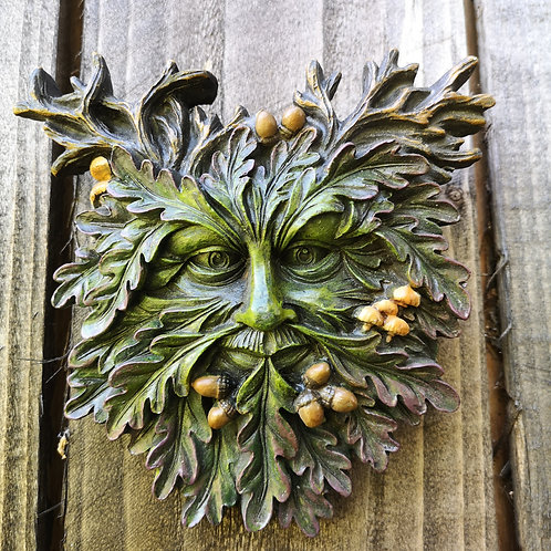 Autumn Fruits Green Man Plaque