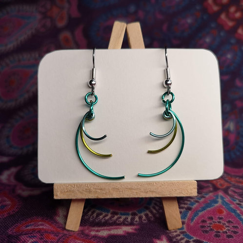 Turquoise Curves Earrings