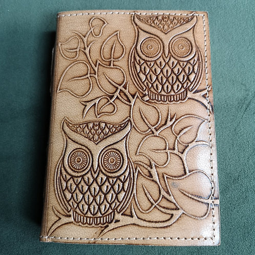 Wise Owl Embossed Leather Journal