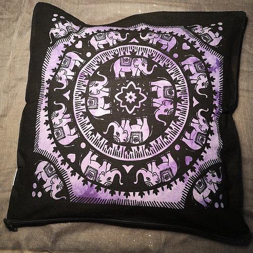 Purple Elephant Cushion Cover