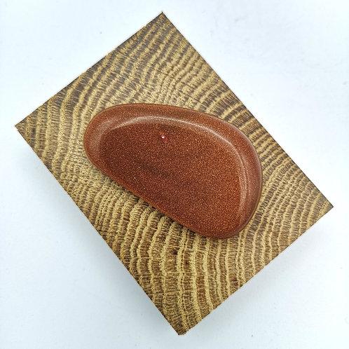 Brown Goldstone Palm Stone