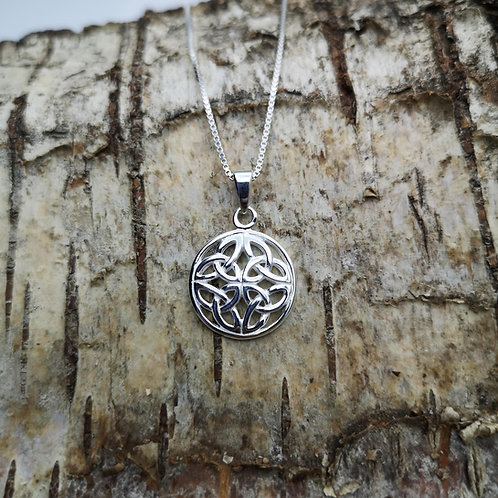 Celtic Knot Silver Pendant