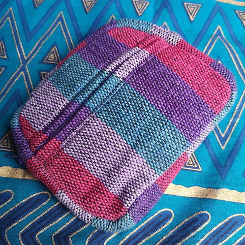 Large Purple Stripy Purse