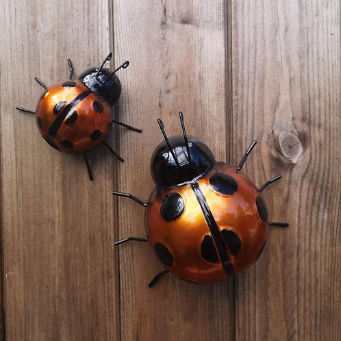 Orange Metal Ladybirds