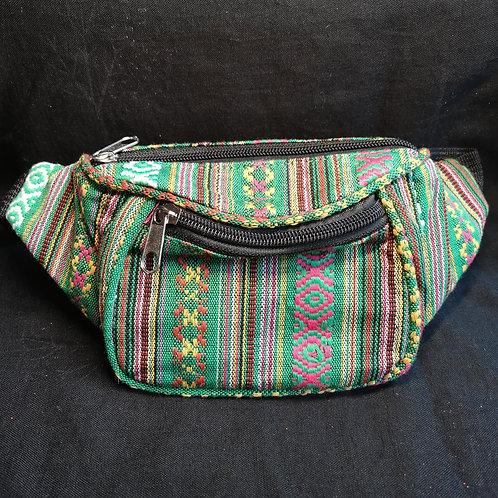Green Stripy Bum Bag