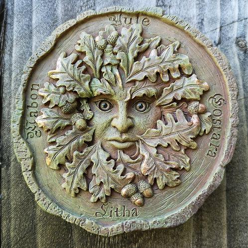 Oak Spirit Seasons Green Man Plaque