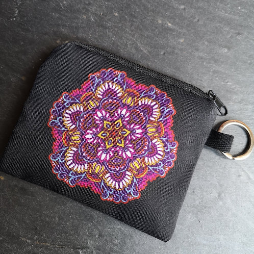 Flower Mandala Keyring Purse