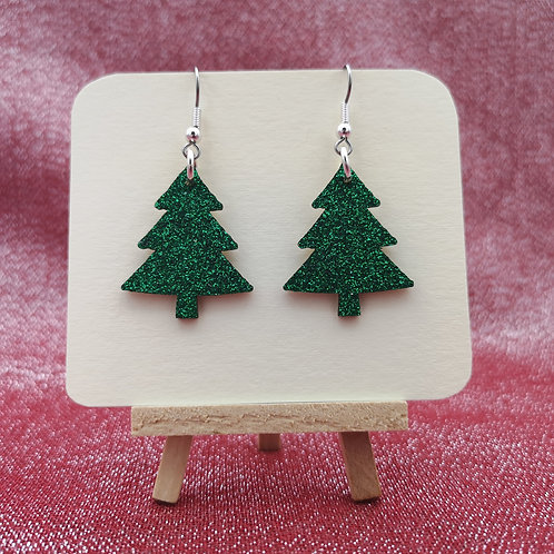 Glitter Tree Earrings