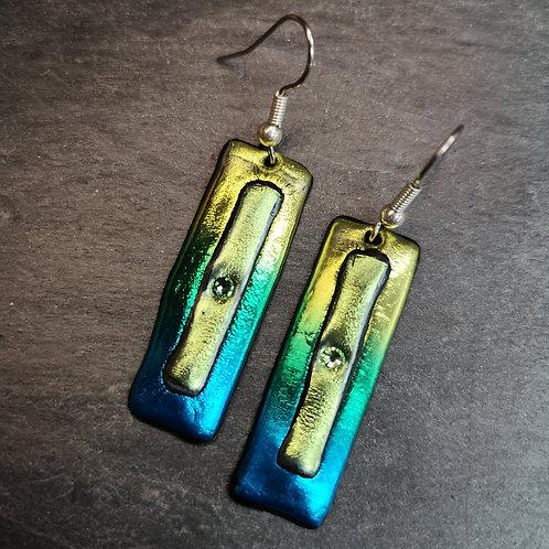 Green Blue Earrings