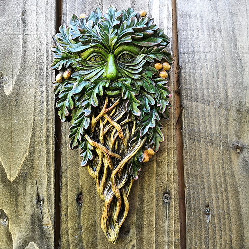 Oak Seeker Green Man Plaque