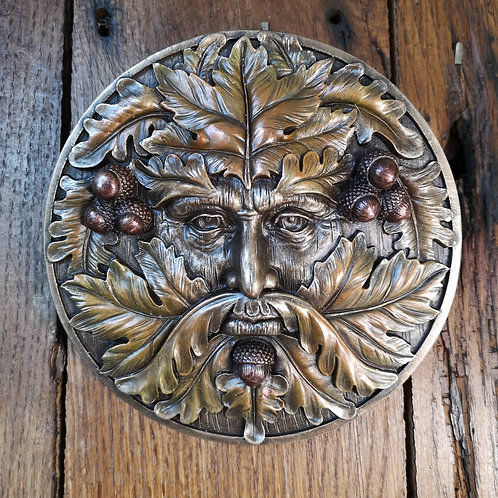 Autumn Green Man Plaque