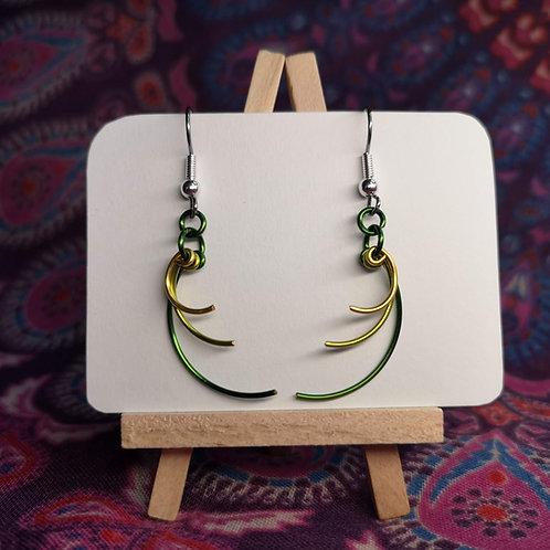 Green Curves Earrings