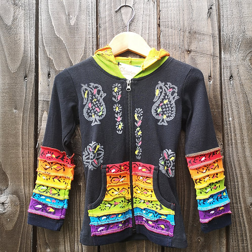 Child's Patterned Rainbow Hoody