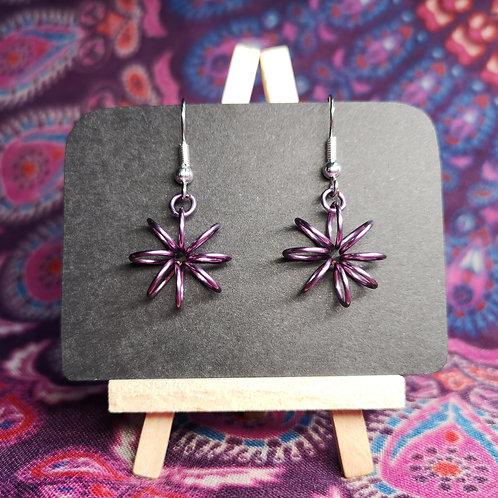 Lilac Flower Earrings
