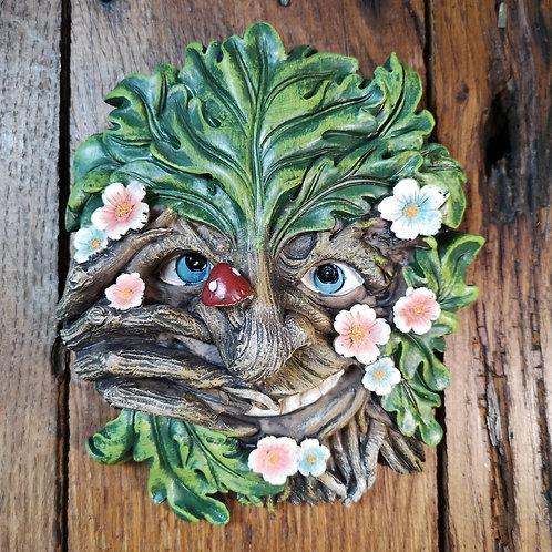Flora Green Man Plaque