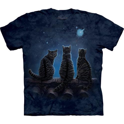 Moon Gazing Cats T-Shirt