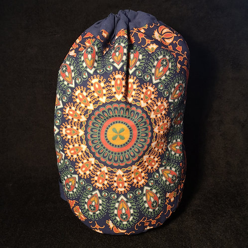 Navy Mandala Duffel Bag