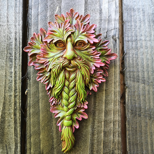 Viking Lord Green Man Plaque
