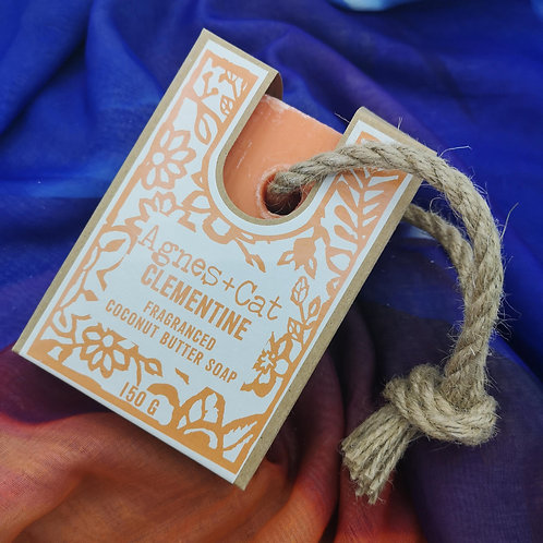 'Clementine' Soap on a Rope