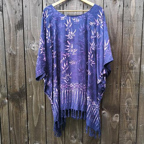 Purple Batik Top