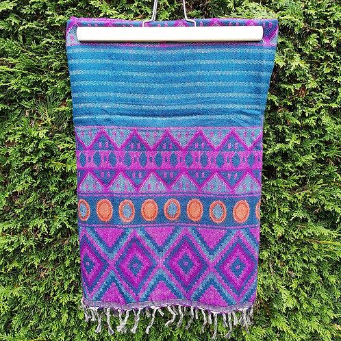Purple & Blue Aztec