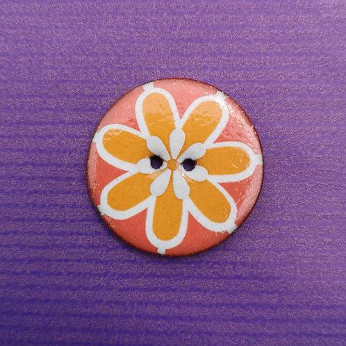 Ceramic Flower Button