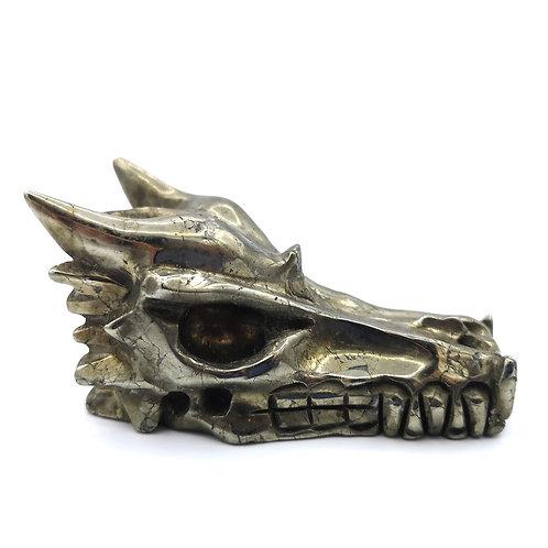 Chalcopyrite Dragon Head Skull