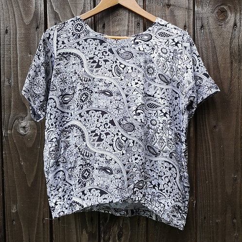Black & White Paisley Top