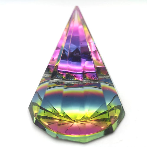 Mystic Glass Dodecagon Pyramid Large