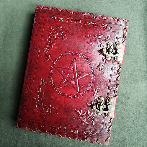 Book of Shadows Embossed Leather Journal