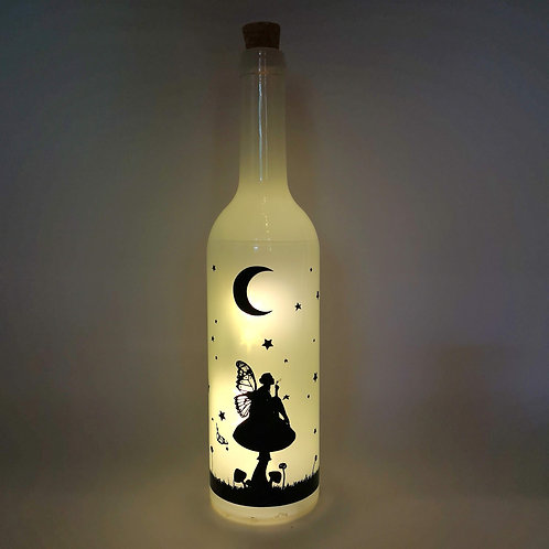 Fairy Bottle Night Light White