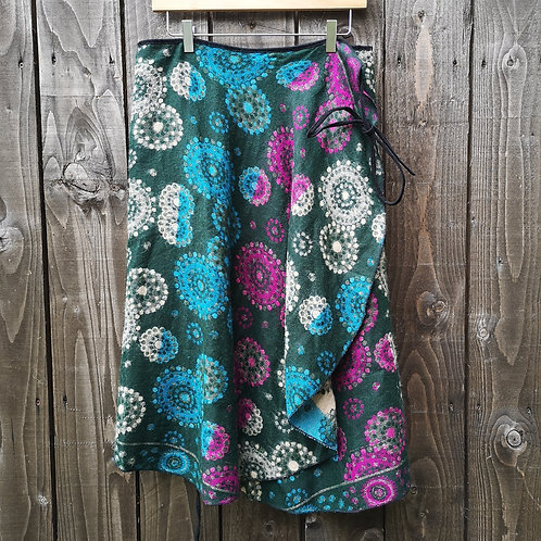 Cosy Green Wrap Skirt