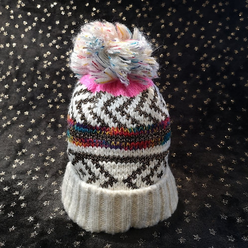 Gold Sparkle Bobble Hat
