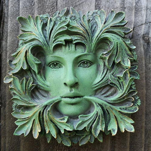 Goddess Green Man Plaque