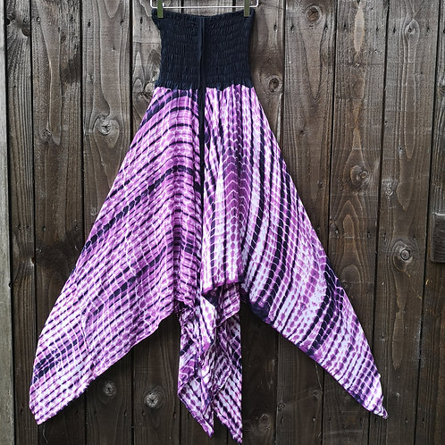 Purple Tie Dye Pixie Dress