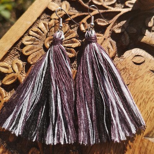 Darkness Tassel Earrings