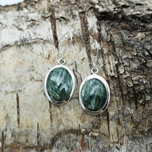 Silver Seraphinite Earrings