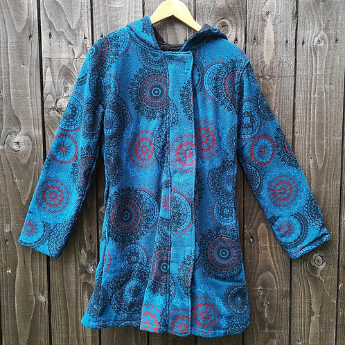 Fleece Lined Mandala Coat