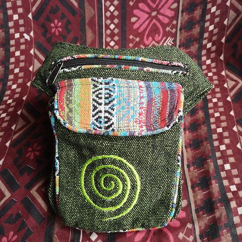 Green Swirl Bum Bag