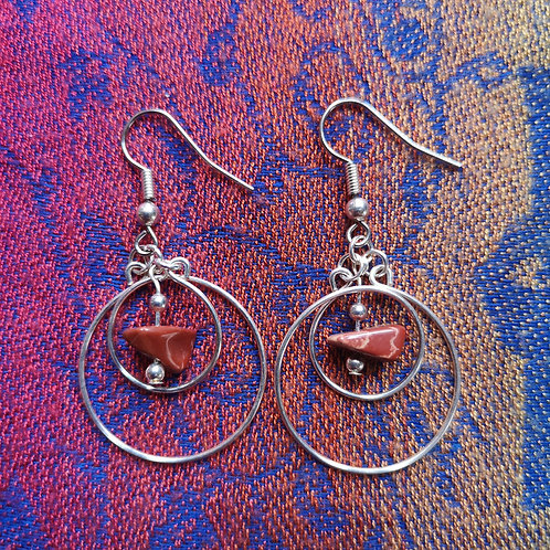 Virgo Jasper Circles Earrings