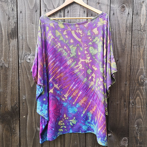 Purple, Green & Blue Tie Dye Top