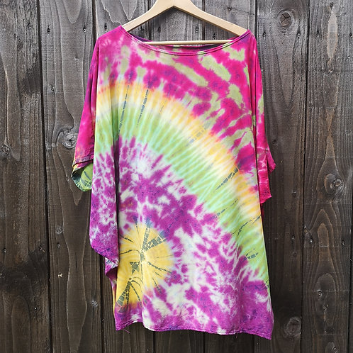 Purple, Pink & Green Tie Dye Top