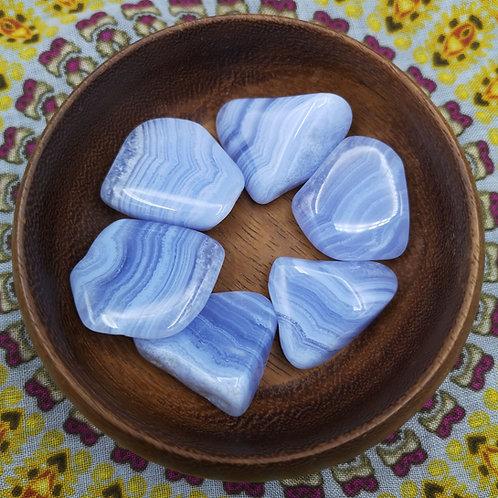 Blue Lace Agate Tumble Stone