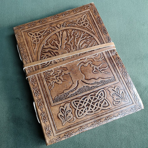 Tree of Life Large Embossed Leather Journal