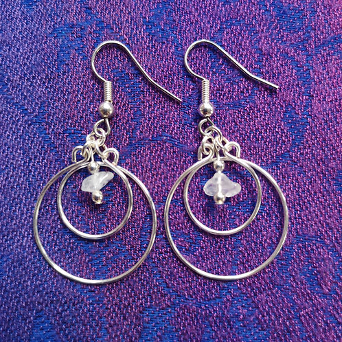 Aries Quartz Circles Earrings