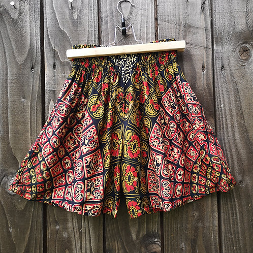 Red Batik Shorts