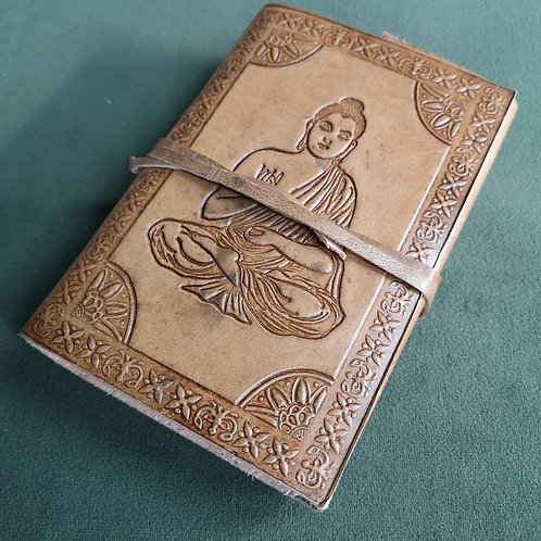 Buddha Embossed Leather Journal