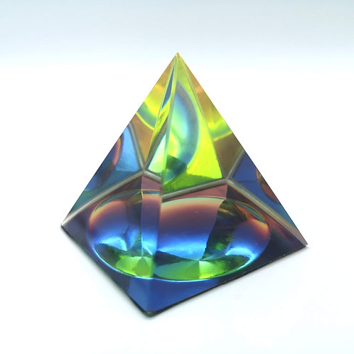 Mystic Glass Square Pyramid Small